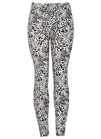 5156bab60dc3f2 New Ladies Womens Black Stretchy Floral Animal Leopard Printed Leggings UK  Size 8 10 12 14: Amazon.co.uk: Clothing