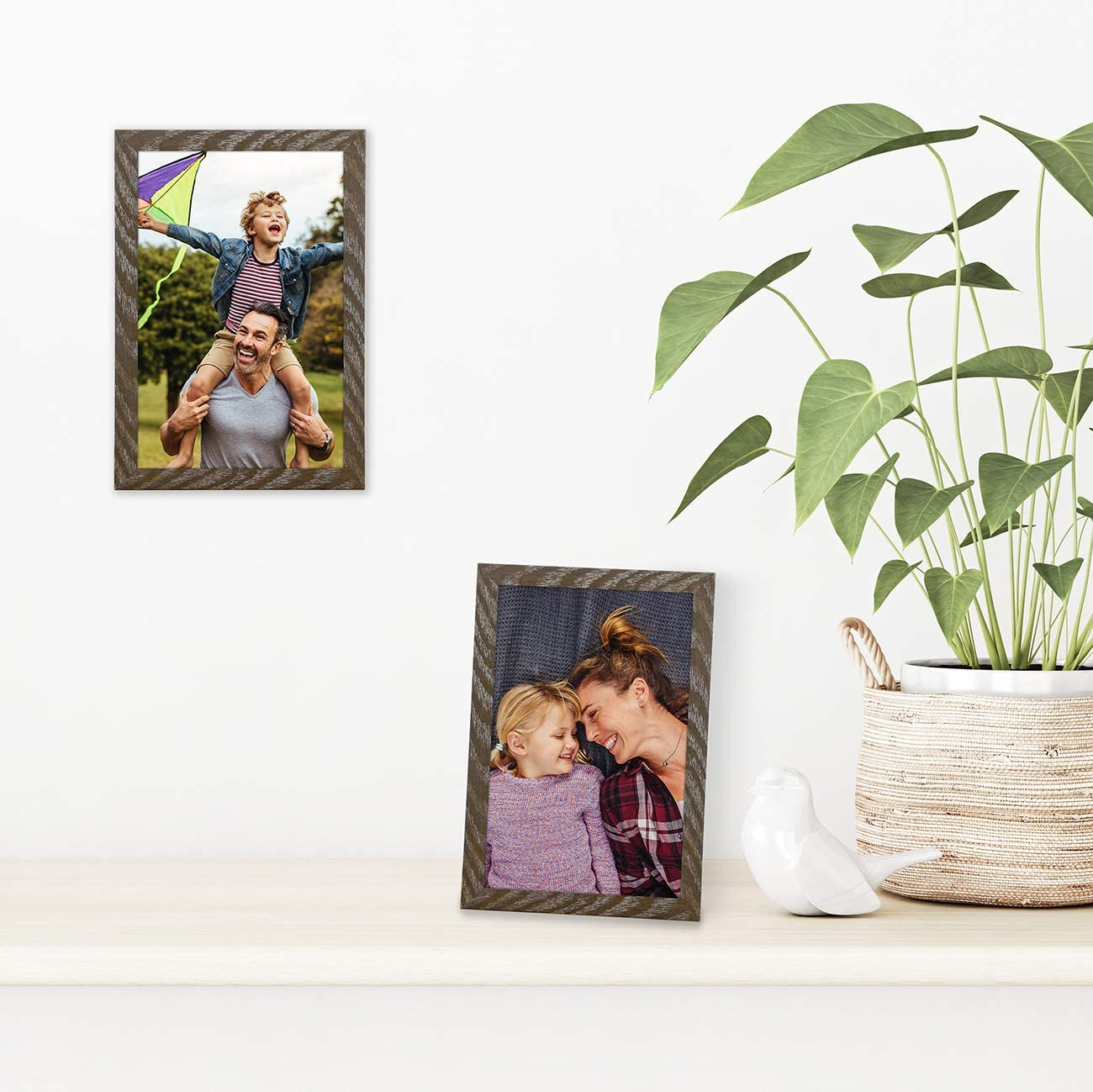 Displays 4x6 Inch Photos with Mat or 5x7 Inch Photos Without Mat Shatter-Resistant Glass Hanging Hardware Included! Americanflat Black Picture Frame