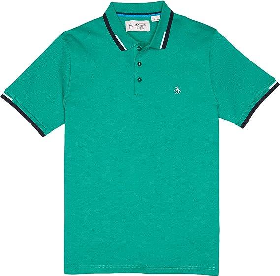 Original Penguin Rib. Inter Polo Shirt Shade Glade-L: Amazon.es ...