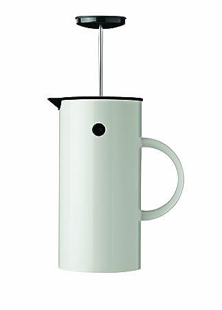 Stelton EM Press Coffee Maker, 8 Cups, White