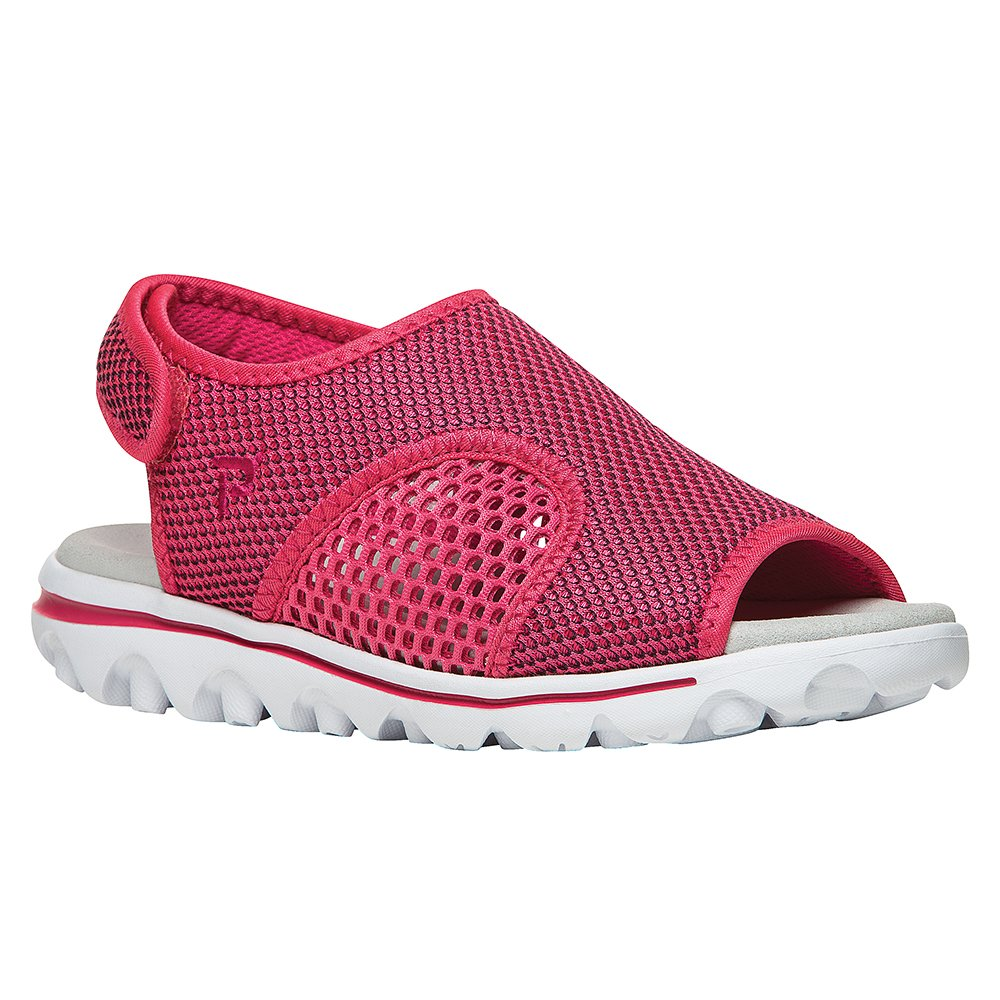 Propet Women's TravelActiv Ss Sandal B01IODC2U0 5.5 B(M) US|Red, Black