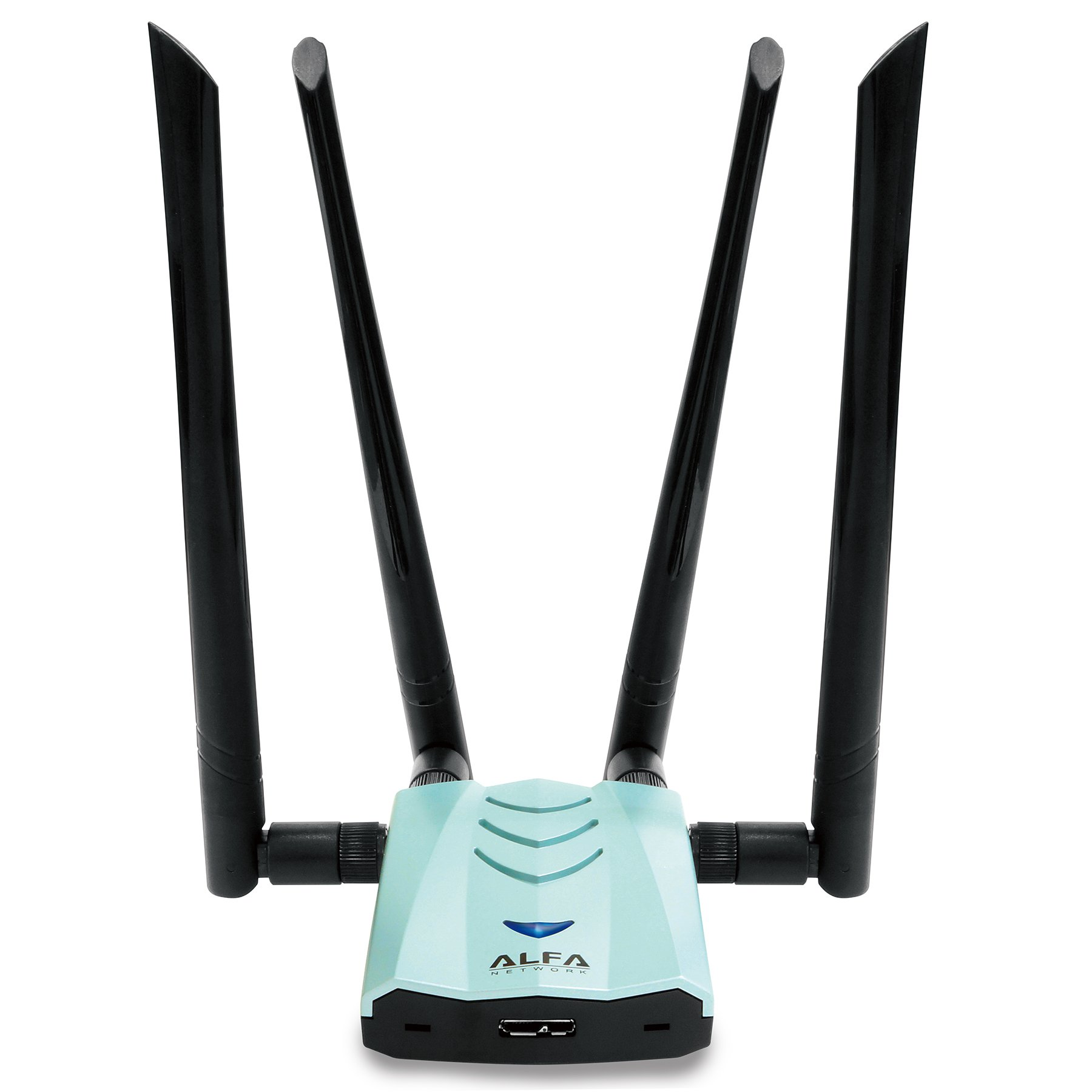 Alfa AC1900 WiFi Adapter - 1900 Mbps 802.11ac Long-Range Dual Band USB 3.0 Wi-Fi Network Adapter w/4x 5dBi External Dual-Band Antennas by Alfa