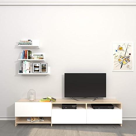 THETA DESIGN by Homemania Porta TV, Mobile TV Campbell, Bianco ...