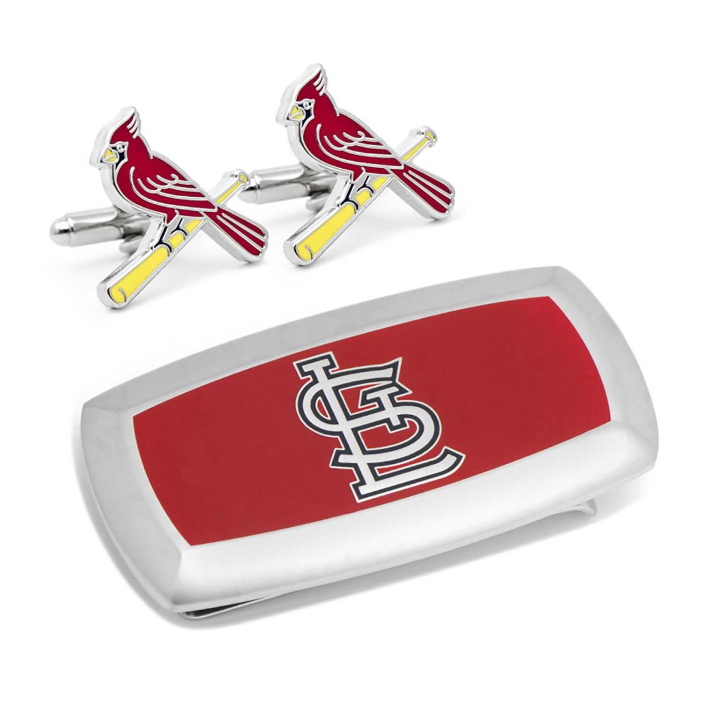 St Louis Cardinals Cufflinks and Cushion Money Clip Gift Set
