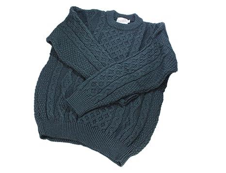 978fb7ba5 Kerry Woollen Mills Aran Wool Sweater Crewneck Unisex Made in ...