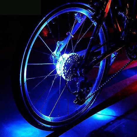 Homa - Luces LED para Rueda de Bicicleta, Resistentes al Agua ...