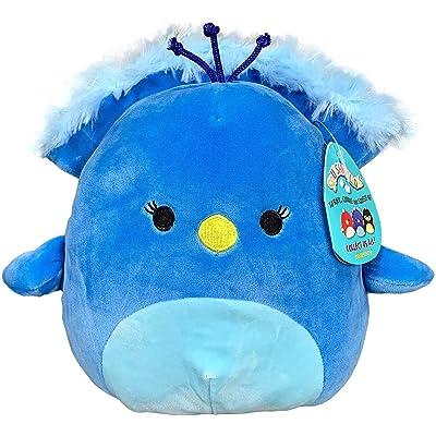 "Squishmallow Kellytoy 2020 Birds Collection Plush Toy (12"" Priscilla The Blue Peacock): Toys & Games"