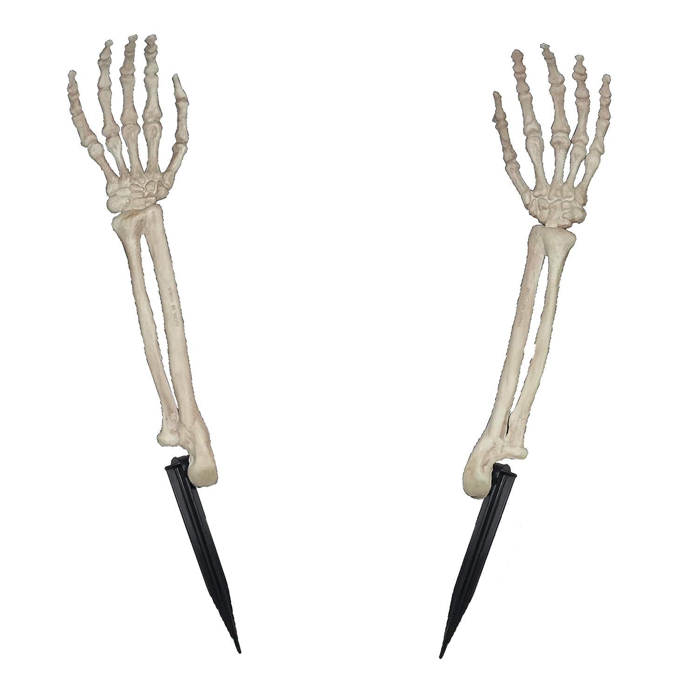 2 Piece Crazy Bonez Skeleton Arms Lawn Stakes 2 Piece Bone