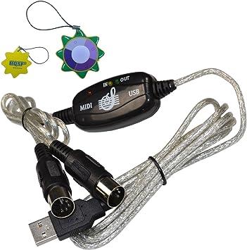 HQRP Adaptador Midi Cable PC Converter Interfaz USB para ...