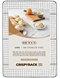 CrispyRack Heavy Duty 100% 304 Stainless Steel Wire Rack For Cooking, Roasting, Drying, and Grilling. Rack Fits Jelly…