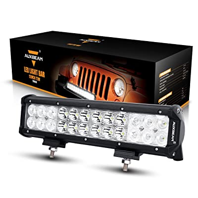 "Auxbeam LED Light Bar 12"" 72W Driving Light 24pcs 3W CREE Light Combo Beam Waterproof for Off-Road Truck Car Military Mining Heavy Equipment: Automotive"