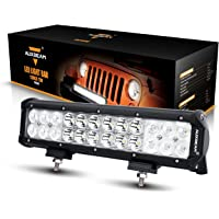 Auxbeam LED Light Bar 12 Inch LED Bar 72W CREE LED Off Road Lights Combo Beam Waterproof 24pcs 3W for 4x4 Truck Military Mining Heavy Equipment