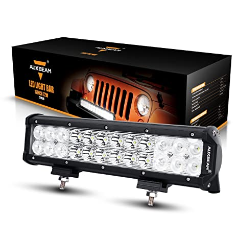 Auxbeam led light bar 12 72w driving light 24pcs 3w cree light combo beam waterproof for off road truck car military mining heavy equipment auxbeam led light bar 12quot 72w driving light 24pcs 3w cree light combo beam waterproof aloadofball Gallery