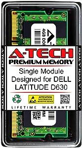 A-Tech 4GB RAM for DELL Latitude D630 | DDR2 800MHz SODIMM PC2-6400 200-Pin Non-ECC Memory Upgrade Module