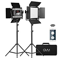 Deals on 2-Pk GVM Dimmable Bi-Color Photography Lighting w/APP Control