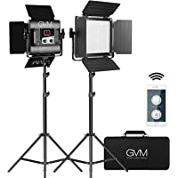 GVM 560 LED Video Light, Dimmable Bi-Color, Photography Lighting with APP Control, Video Lighting Kit for YouTube…