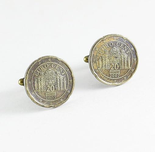 Manschettenknöpfe 20 Euro Cent österreich Münzen Amazonde Handmade