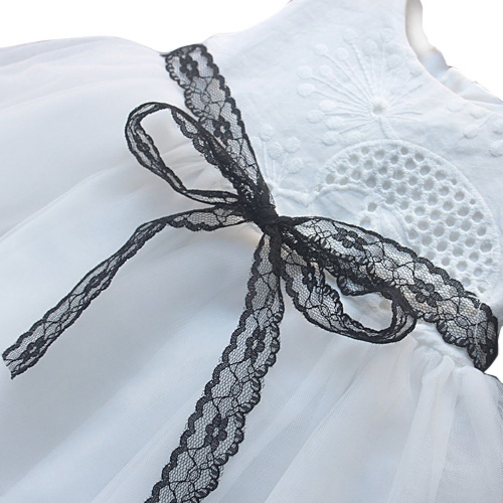 Baywell Baby Girl Dress Kids Sleeveless Lace Embroidered Princess Tutu Skirts