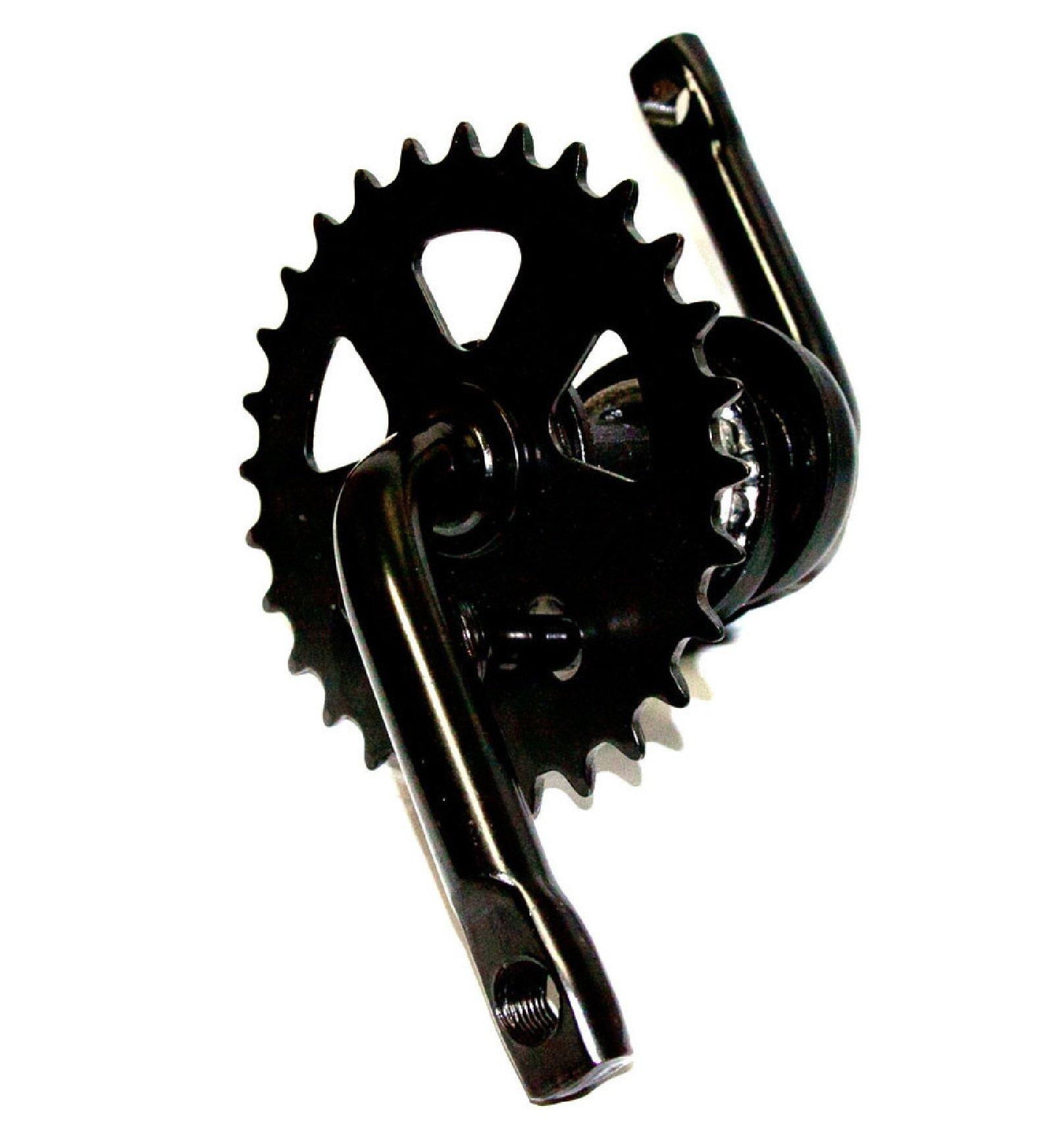 Fatboy Mini BMX 1-piece Crank (Black)