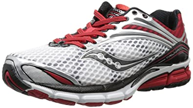 Saucony Men's Triumph 11 Running Shoe,White/Red/Black,7 W US