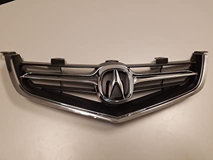 Amazoncom Acura TSX Grille With OEM Emblem Chrome - 2018 acura tsx grill replacement