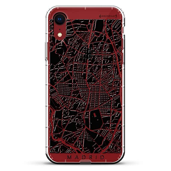 Madrid Streets Map | Luxendary Air Series Clear Silicone Case with 3D printed design and Air