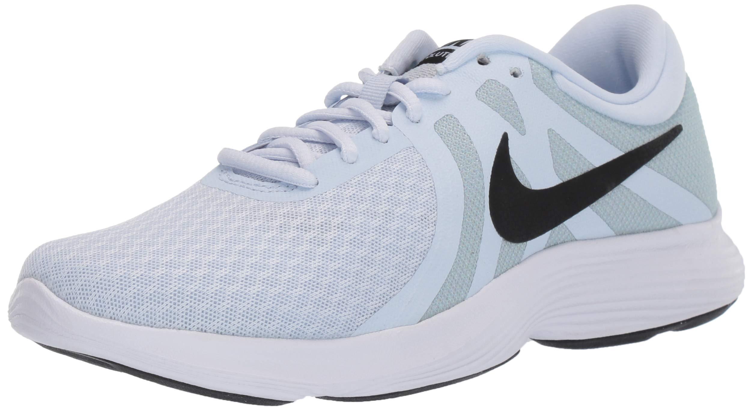 Nike Women's Revolution 4 Running Shoe, Half Blue/Black - Wolf Grey - White, 5 Regular US