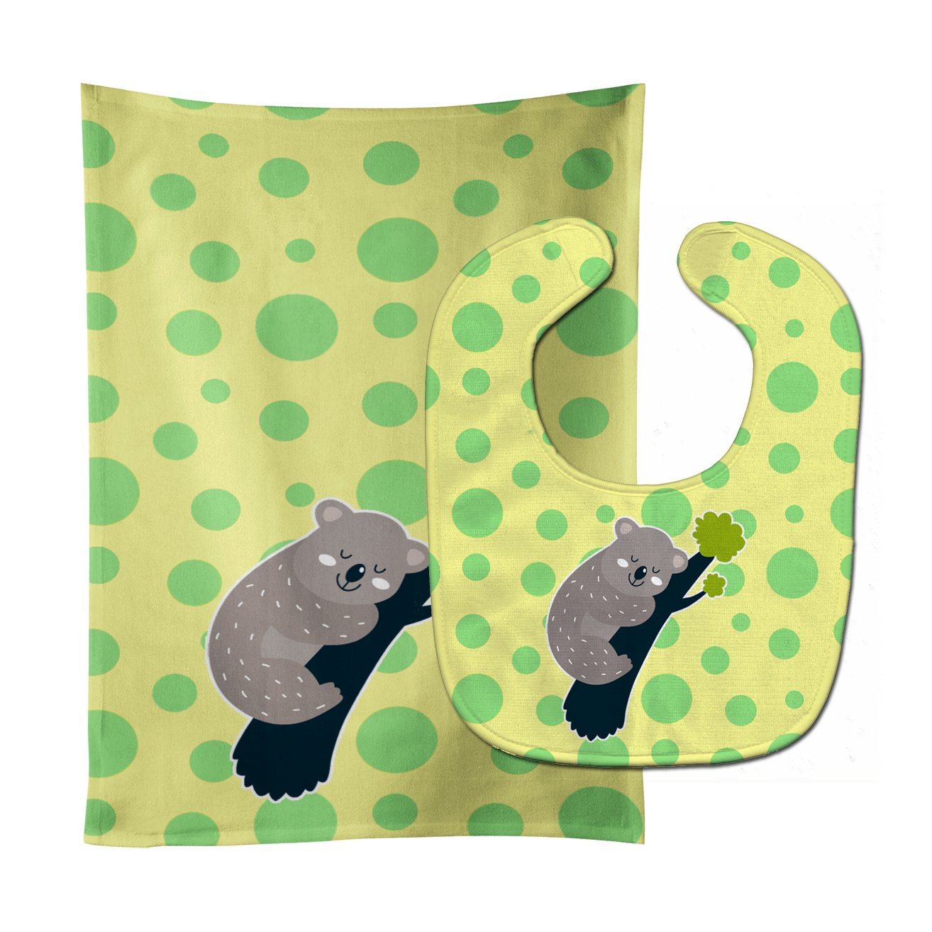 Koala Bear Organic Cotton Baby Burp Cloth Set