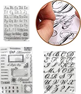 4Pcs Alphabet Cake Stamp Tool, Fondant Cake Mold, Food-Grade Alphabet Biscuit Fondant Cake Cookie Stamp Mold, DIY Cookie Stamp Cookie Cutter Fondant Molds, Reusable & Easy to Clean