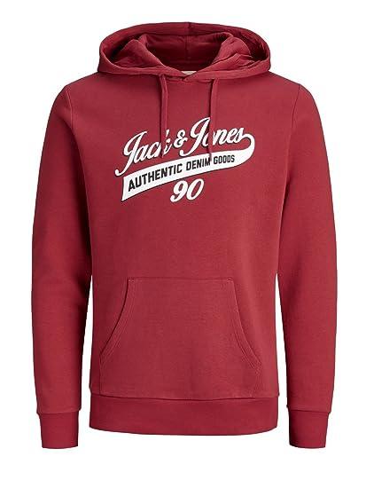 e84e54a64b75ef JACK   JONES Herren Hoodie Kapuzenpullover Männer Pullover mit Kapuze  Sweatshirt schwarz grau blau weiß rot