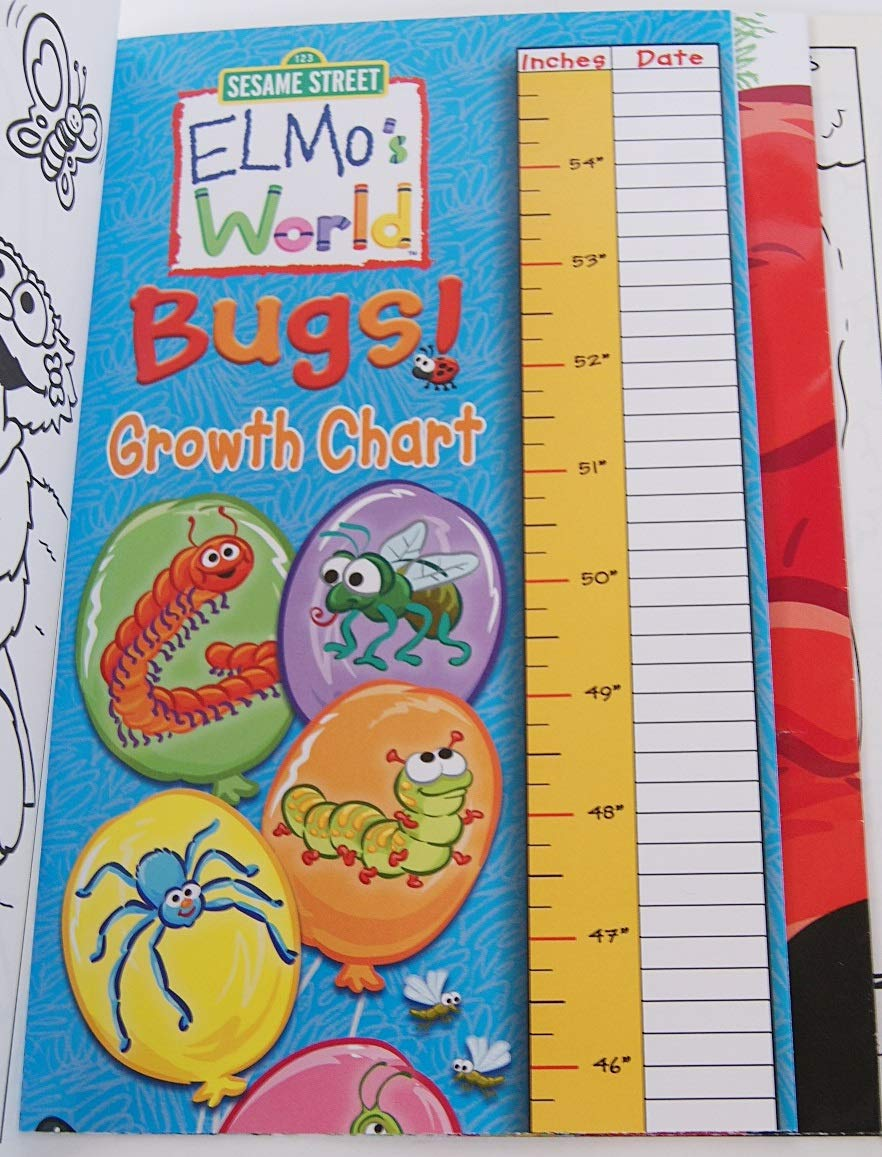 Lazy Days Elmos World Bugs Coloring Book with Stickers and Pull Out Poster