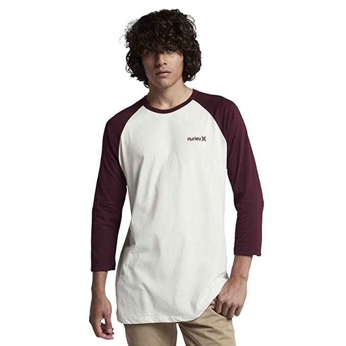 72430f7152a0 Amazon.com  Hurley MTS0025260 Men s One and Only Raglan