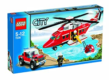 lego city playsets fire helicopter 7206 - Lego City Pompier