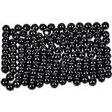 efco–Wachs Perlen, Kunststoff, Schwarz, 4mm Durchmesser, 125-piece