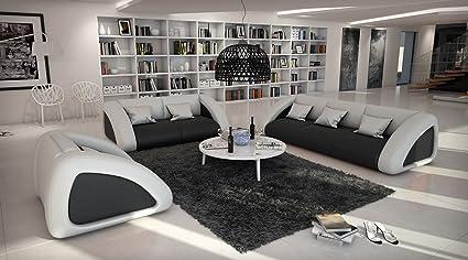 SAM® sofá Ciao Combi 3 - 2 de 1 negro/blanco/blanco Designed ...