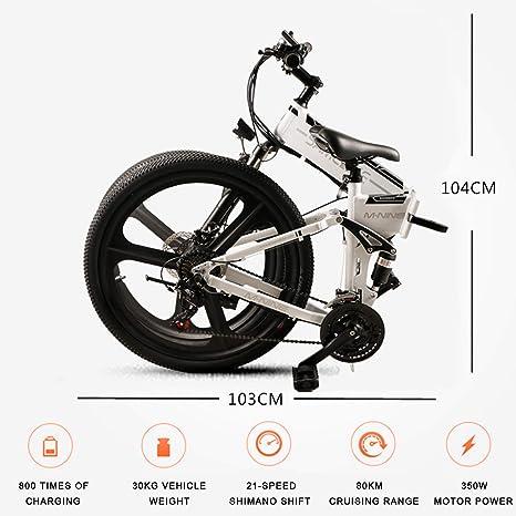 Samebike Bicicletas de montaña eléctricas para Adultos, con ...