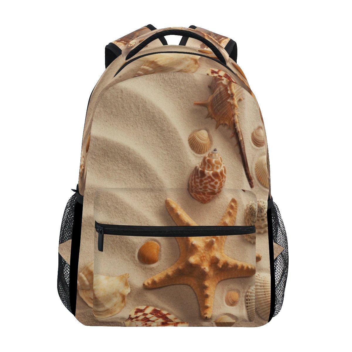 ファッション海シェルwith Sandバックパックショルダーバッグレディースガールズ旅行Holiday   B07FYC9JM9