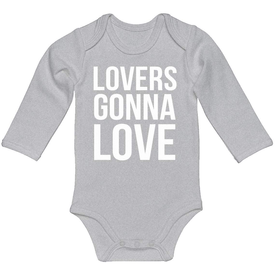 Baby Romper Lovers Gonna Love 100/% Cotton Long Sleeve Infant Bodysuit