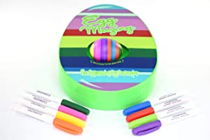 The Original EggMazing Easter Egg Decorator Kit - Includes 8 Colorful Quick Drying Non Toxic Markers