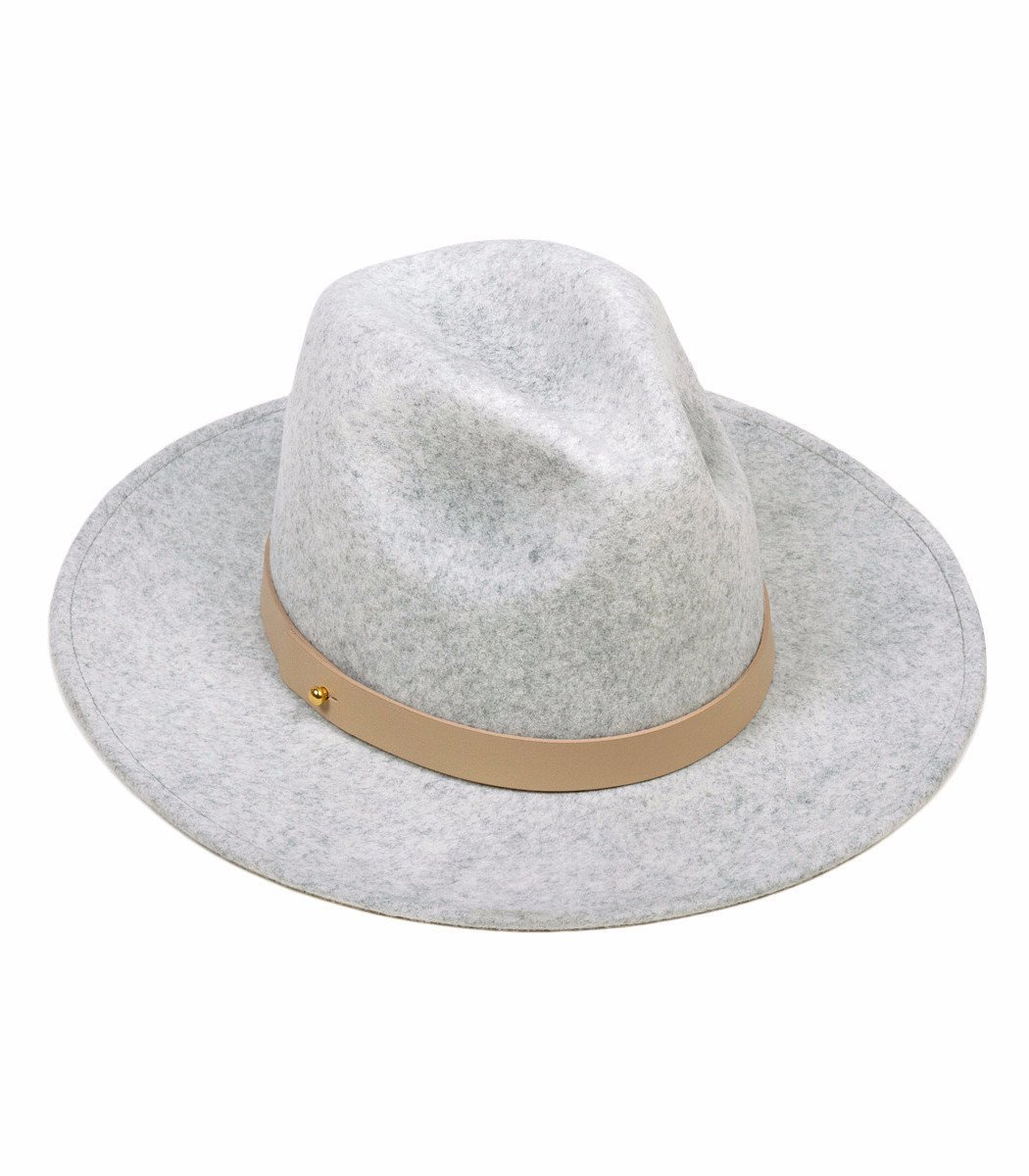 Lack of Color Women's The Mack Classic Luxe Fedora (Light Stone-Wash Speckled Grey, SM (55cm)) by Lack of Color