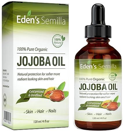 Aceite de Jojoba 100% puro - 120ml - orgánico certificado - El mejor aceite nutritivo natural para una piel radiante, cabello suave como la seda y ...