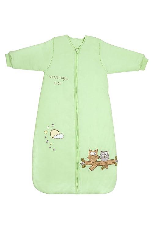 Saco de dormir de invierno para bebé (manga larga 3,5 tog – verde