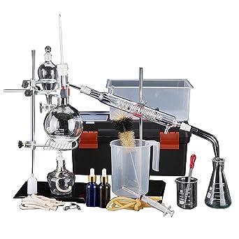 Kit de laboratorio para destilar agua y aceites esenciales con ...