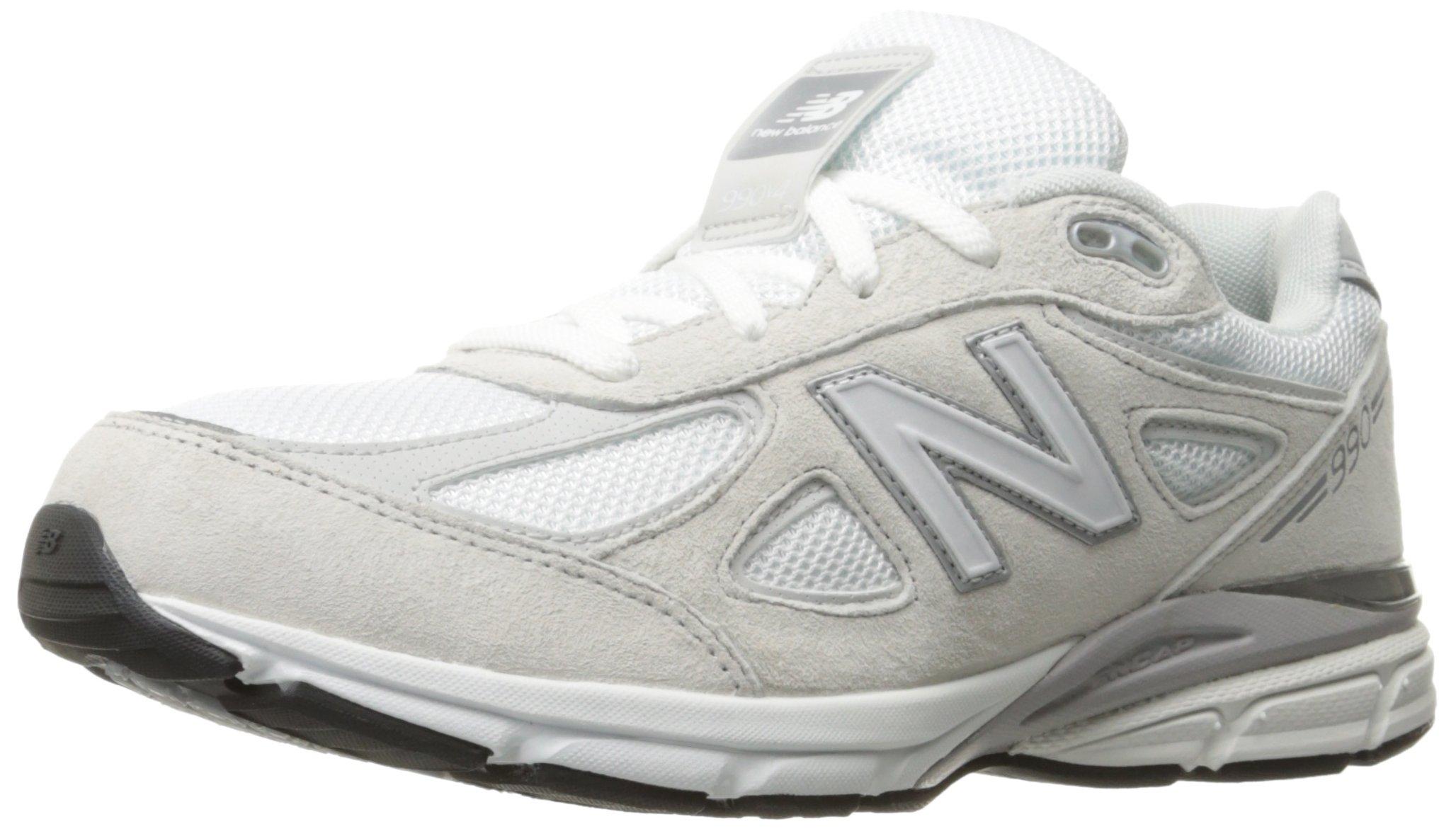 Galleon New Balance Boys' 990v4 Running Shoe, WhiteSilver