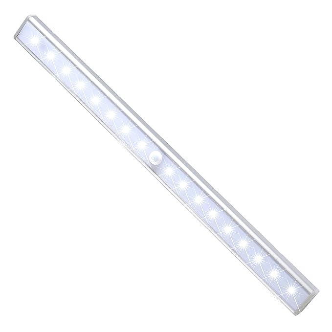 72 opinioni per JESWELL 24 LED Luce Armadio Ricaricabili Lampada con Sensore di Movimento, 3