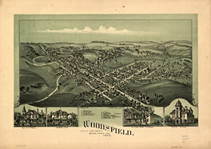 Woodsfield Ohio Map.Amazon Com 1899 Map Of Woodsfield Ohio Woodsfield Monroe County