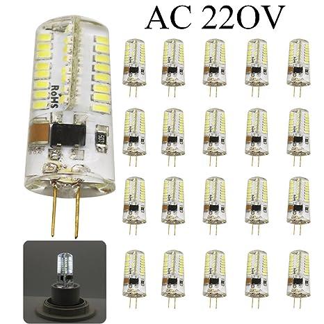 20 pieza G4 LED Cuentas de lámparas 5 W ES equivalente a bombillas halógenas de 50
