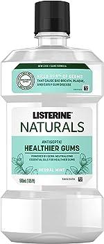 Listerine Naturals Antiseptic Mouthwash, Fluoride-Free Oral Care To Prevent Bad Breath,