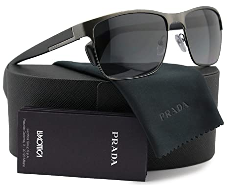 Amazon.com: Prada spr51o metal anteojos de sol Para Hombre ...