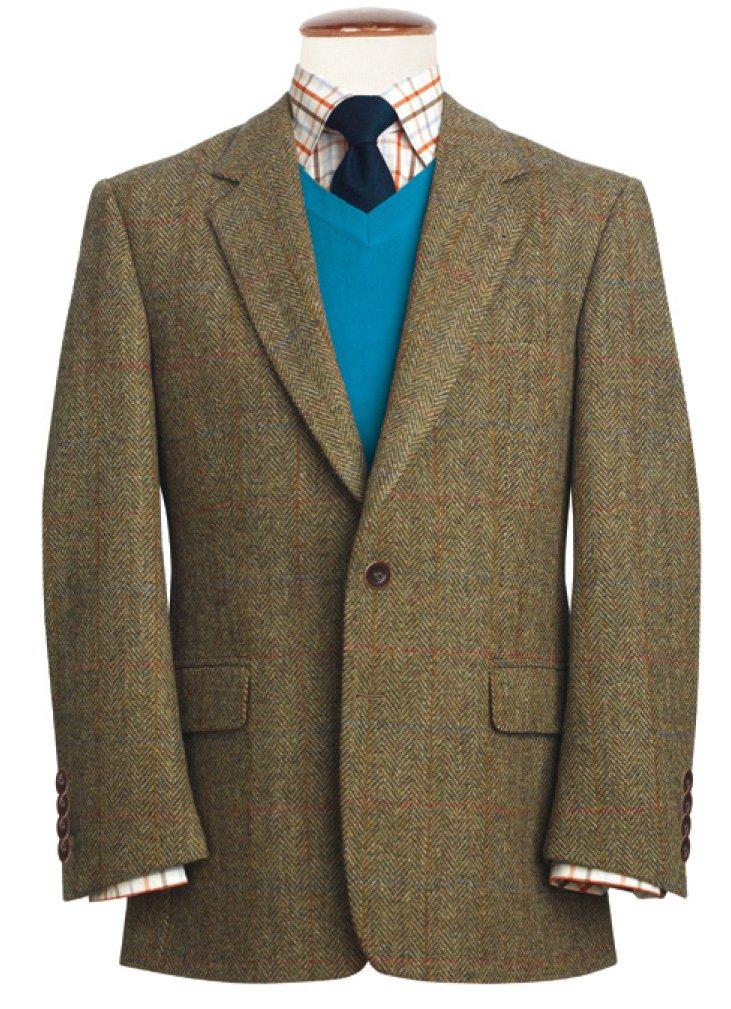 Harris Tweed of Scotland BLAZER メンズ B076HCB84F 46 Regular|Stromay Stromay 46 Regular